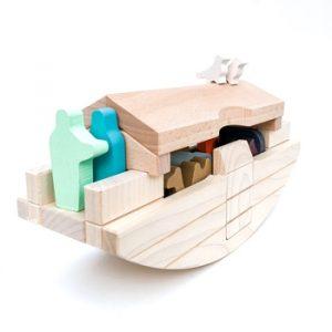 Båt Treleker Miljøvennlige Norskeleker.no leker noahs ark barn