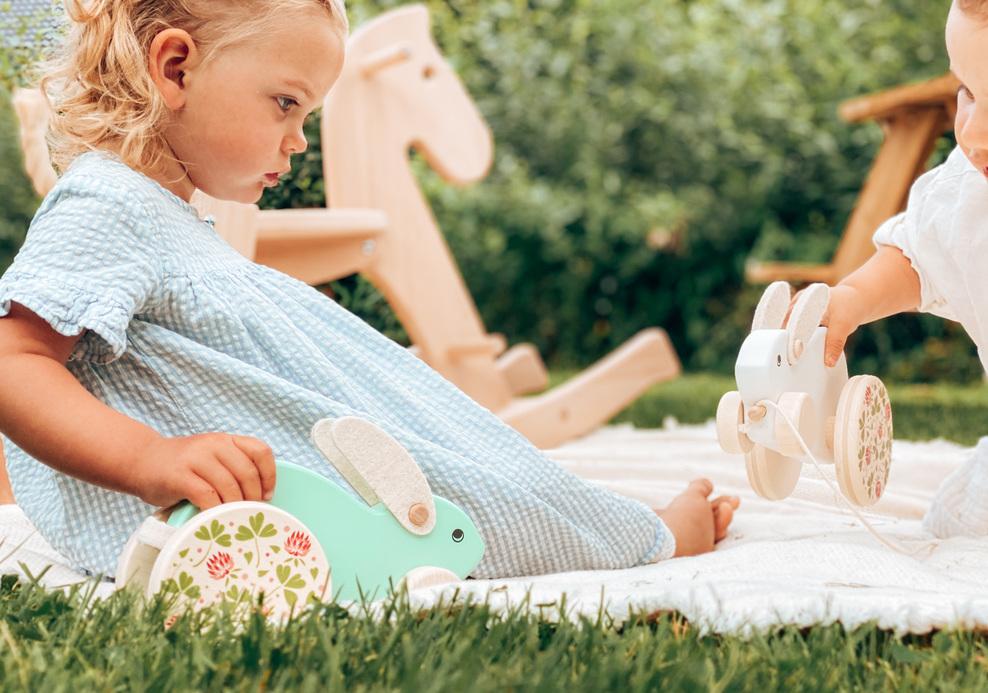 leker treleker miljøvennlige norskeleker.no stor kanin gyngehest