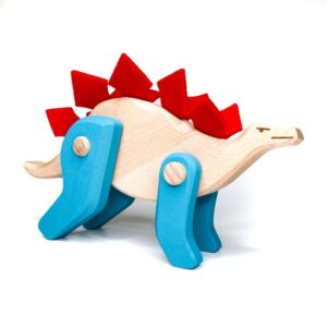 Treleker Miljøvennlige Norskeleker.no leker dinosaur stegosaurus barn tre