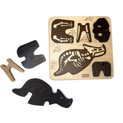 Norskeleker.no paleo treleker leke mammut t-rex Triceratops puslespill